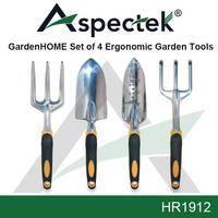 GardenHOME Ergonomic Garden Tools 4 Piece Set HR1912 By Aspectek In stock