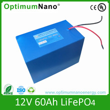 Deep cycle 12v 60ah lithium battery for golf trolley and ups with UL/CE approved and charger