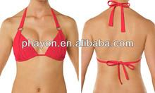 OEM&ODM Women plain Bikini Padded Triangle Top