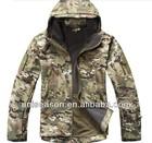 Waterproof windproof camo softshell jacket