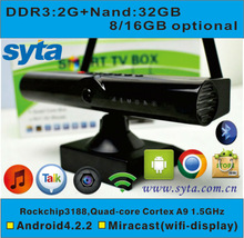 Android TV Box Quad core xbmc Jailbreak air mouse support voice call