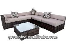 Wicker Rattan Garden Setting Indoor Outdoor Sofa Lounge Couch Set Furniture 6Pcs
