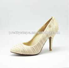 2014 New Arrival Pretty Steps Women Summer/Spring High Heels Pumps Animal Skin Genunie Leather