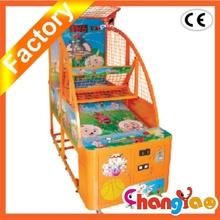 Orange Children Basketball Arcade Amusment Coin Operated Game
