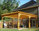 RDBM polyurethane wood-imitation outdoor pergola