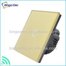 EU 1 gang glass panel home appliance wireless remote control switch