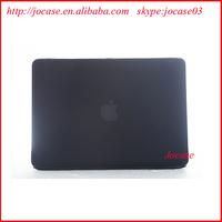 "black rubberized PC hard case cover for macbook pro 15.4"""