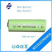 High quality 1.2V AA 2500mAh rechargeable battery aa aaa