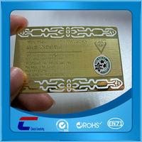 brushed rose gold metal rack gift business cards display