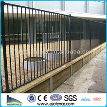 Steel fence and brick columns