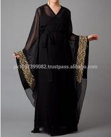 high quality dubai girls abayas wholesale - Jalabiya style muslim fashionable abaya branded 2014 - Korean fashionable Abaya