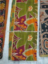 Old Sari Reversible kantha quilt ralli throw vintage india kantha Bed spread