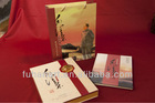 Silk book, high-end business gifts suit,MAO zedong's poetry handwriting