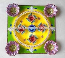 Decorative designer handmade Rangoli - Diwali Rangoli Diya set - Wholesale diwali diya
