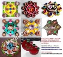 Decorative designer handmade Rangoli - Diwali Rangoli Diya set - Diwali corporate gift -Wholesale diwali diya