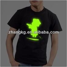 El flashing t-shirts,LED light-up t-shirt,LED t-shirt
