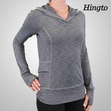 Women's high quality sports wears of slim fit hoodies