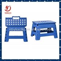 Easy plastic folding kitchen stool