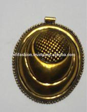 Big brass goldr antique pendants