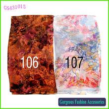 Very fashion long floral print silk scarf