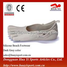 Adulto silicone calçado da moda personalizado à beira-mar praia sapatos