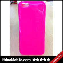 Candy Color Glaze Plain Cover TPU Mobile Case For Iphone 5c
