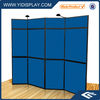 Folding panel display stand system with PVC board