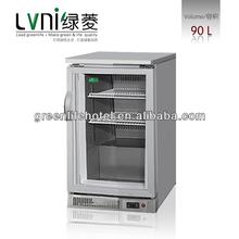 LVNI LN-90L bar top glass display fridge,ice cream display counter top,mini frige