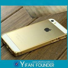 0.7mm ultra-thin hard metal case golden for iphone 5