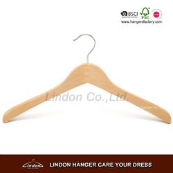 small size wooden infant coat hanger