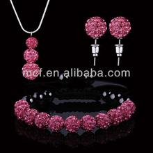 wholesale 2014 New shamballa set shamballa necklace manufacturer factory in yiwu China MCC-0017