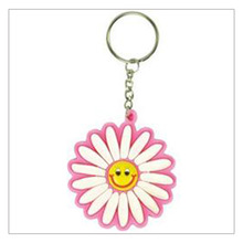 sexy colorful flower keyring/flower shaped keychain
