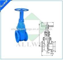 rising stem metal seated gate valve DIN3352-F4