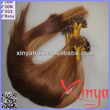 2014 Hot Selling 100% human brazilian u tip keratin hair extension bonds