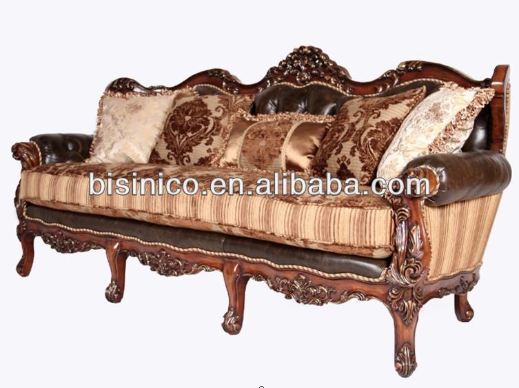 Spanish style wooden sofa set for living room antique - Muebles estilo luis xv ...