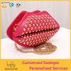 Punk rock rivet leather lips clutch bag handbags