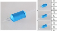 25mm Blue Disposable Tattoo Tube With Clear Tip