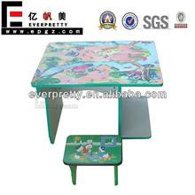 Mesa de madera decorativa y sillas, Preescolar decoración aula
