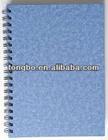 a4 book size, plastic cover book, custom design sprial notebook