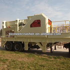 Tire series mobile stone crusher of jaw crusher from Pioneer