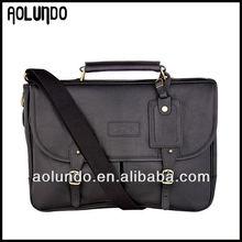 2015 Fashion leather messenger bag mens genuine leather laptop bag