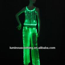 cool kadın pantolon led aydınlatma kostümleri hip hop dans performansı aşınma