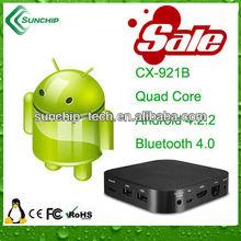Quad Core,Bluetooth smart TV box, apple tv, CX-921B