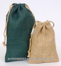 China Supplier Wholesale Cheap Small Used Natural Hessian Drawstring Jute Bag
