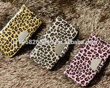 NIZWELL Leopard Diary Wallet Phone Case for Apple iPad Air Enamel Leopard Pattern Handmade Fashion Item Cubic Holder