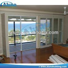 Timber Look Finish Aluminium Louver Windows Shutters