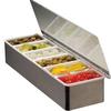 3/4/5/6/8 Grid Plastic stainless steel holder sausage seasonings