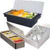 3/4/5/6/8 Grid Plastic stainless steel holder seasoning box
