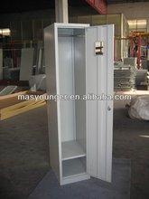 Single door corner closet steel clothes storage wardrobe locker furniture,modern product leads fashion life