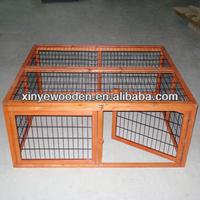 Wooden Construction Metal mesh Rabbit & Poultry Run